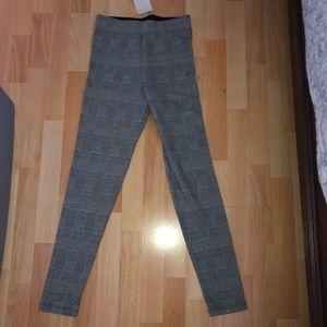 ZARA Plaid stretchy pants